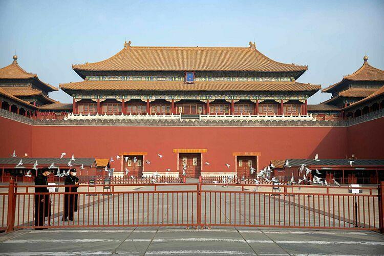 Tử Cấm Thành, Trung Quốcbị đóng cửa do dịch bệnh. Ảnh: AP