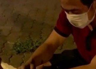 CLIP Người đàn ông ngồi cúi đầu bên vệ đường xin việc kiếm 250k, cô gái trẻ hành động gây xôn xao mạng XH