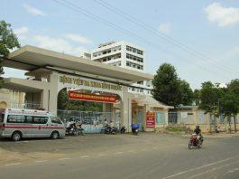 Bệnh viện Đa khoa Bình Phước, nơi để xảy ra sự cố. Ảnh: T.Đồng.
