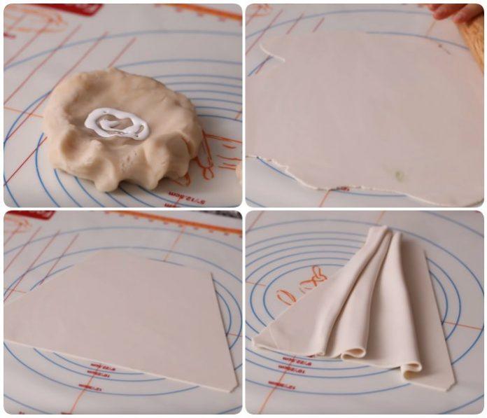 Tự làm túi xôi hoa đậu phong cách Hàn Quốc đang 'làm mưa làm gió' mạng xã hội <3Phần tạo hình này được ứng dụng từ cách làm bánh gato từ đường fondant. Do đâ...
