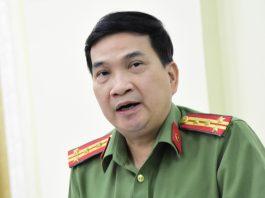 Đại tá Nguyễn Sỹ Quang nói về việc các cán bộ công an sai phạm trong thời gian qua. Ảnh: Lê Trai.