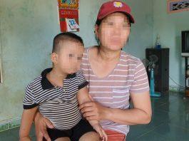 Chị G. và con trai 2 tuoir. Ảnh: Dân Trí