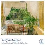 """May be an image of furniture and text that says """"ത Babylon Garden 5 Viba, Phường 4, Thành Phố Vũng Tàu å"""""""