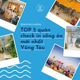 """May be an image of outdoors and text that says """"@anchoivungtau TOP 5 quán check in sống ảo mới nhất Vũng Tàu"""""""