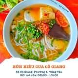 """May be an image of food and text that says """"LLY BÙI MÊ REVIEW BÚN RIÊU CUA cô GIANG 84 Cô Giang, Phường 4, Vũng Tàu Giờ mở cửa: 06h00- 10h00"""""""