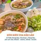 """May be an image of food and text that says """"BÚN RIÊU CUA ĐẮK LẮK 10 Trần Hưng Đạo, Phường 1, Vũng Tàu Giờ mở cửa: 06h00 -10h00, 16h00 21h00"""""""