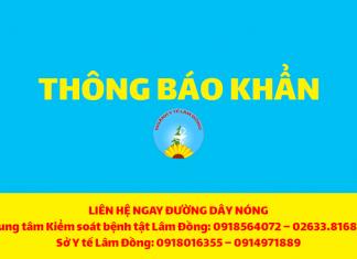 Thông báo Khẩn số 36 của Sở Y tế Lâm Đồng