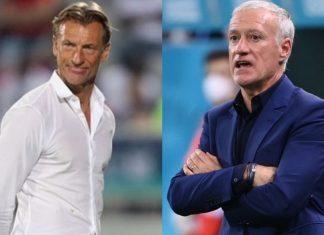 Huấn luyện viên Herve Renard và Deschamps từng học cùng lớp đào tạo huấn luyện viên chuyên nghiệp. Ảnh: Twitter.